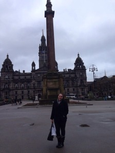 Historic Glasgow and yours truly!