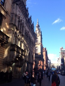 Beautiful Glasgow downtown