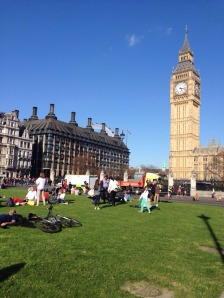 London on a beautiful sunny day